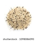 heap of raw black wild rice and ... | Shutterstock . vector #1098086090