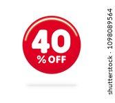 40  off discount. discount... | Shutterstock .eps vector #1098089564