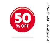 50  off discount. discount... | Shutterstock .eps vector #1098089588