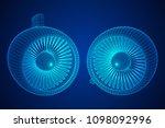 turbo jet plane engine... | Shutterstock .eps vector #1098092996