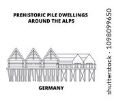 germany  prehistoric pile... | Shutterstock .eps vector #1098099650