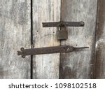 vintage lock and antique latch... | Shutterstock . vector #1098102518