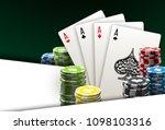 illustration online poker... | Shutterstock .eps vector #1098103316