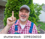farmer checking the weather... | Shutterstock . vector #1098106010