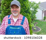 proud happy middle aged man in... | Shutterstock . vector #1098106028