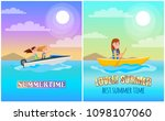 summertime boating collection... | Shutterstock .eps vector #1098107060