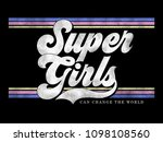varsity slogan graphic | Shutterstock . vector #1098108560