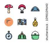 icons adventure with parachute  ... | Shutterstock .eps vector #1098109640