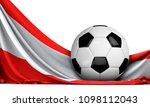 soccer ball on the flag of... | Shutterstock . vector #1098112043