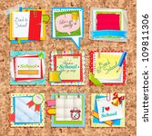paper notes on cork board.... | Shutterstock .eps vector #109811306