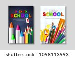 back to school sale posters... | Shutterstock .eps vector #1098113993