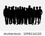 black silhouette of a man. | Shutterstock . vector #1098116120