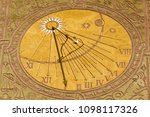 Close View Of A Sundial As An...