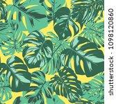 seamless tropical pattern.... | Shutterstock .eps vector #1098120860