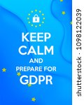gdpr   general data protection... | Shutterstock .eps vector #1098122039