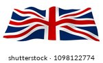 waving flag of the great... | Shutterstock . vector #1098122774