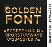 golden glossy font or gold... | Shutterstock . vector #1098123863