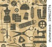 beige retro seamless pattern... | Shutterstock .eps vector #109812776