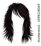 trendy woman long hairs brown... | Shutterstock .eps vector #1098128069