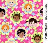 bright pattern for children's...   Shutterstock .eps vector #1098128309