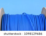 network cable drum with utp cord | Shutterstock . vector #1098129686