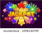 vector logo jackpot and... | Shutterstock .eps vector #1098130709