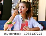 summer lifestyle portrait of...   Shutterstock . vector #1098137228
