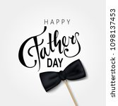 happy fathers day greeting.... | Shutterstock .eps vector #1098137453