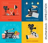 movie making and premiere... | Shutterstock .eps vector #1098137654