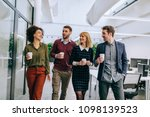 group of diverse coworkers... | Shutterstock . vector #1098139523