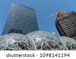 seattle  washington circa may... | Shutterstock . vector #1098141194
