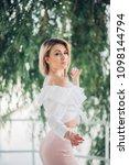 fashion lifestyle portrait of...   Shutterstock . vector #1098144794
