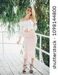 fashion lifestyle portrait of...   Shutterstock . vector #1098144800