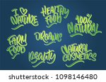 lettering set for natural... | Shutterstock .eps vector #1098146480