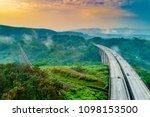 aerial view of cikubang railway ... | Shutterstock . vector #1098153500