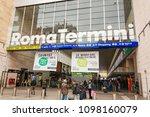 rome  italy  march 2017  train... | Shutterstock . vector #1098160079