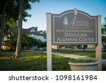 Small photo of New Brunswick, NJ - May 23, 2018: Douglass Alumnae Center at Rutgers University; sign and building in view.