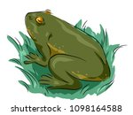Illustration Of An Adult Green...