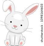 illustration of a white rabbit... | Shutterstock .eps vector #1098164603