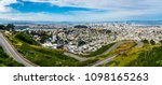 panoramic bay area landscape... | Shutterstock . vector #1098165263
