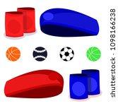set of different sport ball... | Shutterstock .eps vector #1098166238