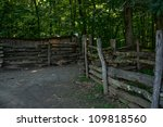 Fence And A Path To The Pig Pen