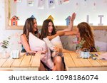 friends at slumber party | Shutterstock . vector #1098186074