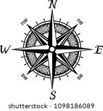 celtic compass tattoo   Shutterstock .eps vector #1098186089