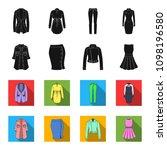 women clothing black flet icons ...   Shutterstock .eps vector #1098196580