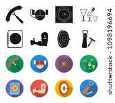 menu  armor with tattoo  darts  ... | Shutterstock .eps vector #1098196694