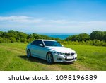 bmw 3 series on the background... | Shutterstock . vector #1098196889