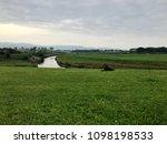 legato on farm by river | Shutterstock . vector #1098198533