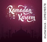 ramadan kareem greeting card... | Shutterstock .eps vector #1098198578