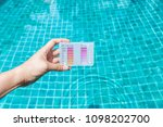 water testing test kit in girl... | Shutterstock . vector #1098202700